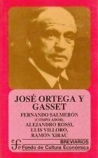 José Ortega y Gasset (Breviarios del Fondo de Cultura Economica) (Span-ExLibrary