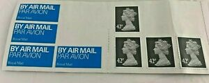 Great Britain 42p & Airmail Stamps MNH SG2297 - Lot of Four - Booklet Olive-Grey
