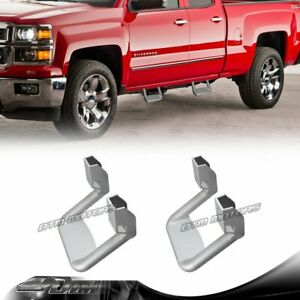 2 X Silver Texture Coated DIE-CAST Aluminum SUV Truck Pickup Nerf Side Step Bar