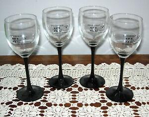 FOUR PITTSBURGH STEELERS SUPER BOWL XL WINE GLASSES - STEELERS 21 SEAHAWKS 10
