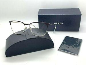 Prada Men's Eyeglasses PR59UV OY1-1O1 Matte Brown/Gold Frame 55-17-150mm ITALY