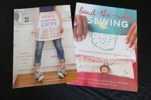 SIMPLY SUBLIME GIFTS and BEND-THE-RULES Sewing and Crafting Books - Lot of 2