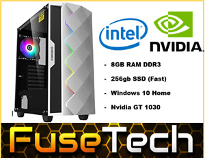 CHEAPEST Intel PC | 256gb SSD | NVIDIA | Gaming PC RGB Computer Office Desktop
