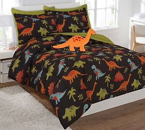 DINOSAURS BROWN KIDS BOYS CHIC COLLECTION COMFORTER SET 8 PCS FULL SIZE