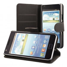 Case Cover Samsung Galaxy S2 i9100 S2 Plus i9105 Flip Wallet + Tempered Glass