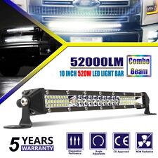 "Colight 10"" Super Slim 1 Row LED Light Bar 52000LM Spot Flood Combo Beam 12"""
