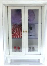 Mueble ropero completo casita muñecas  dollhouse
