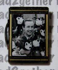Disney Pin Walt Disney Suitcase Booster Walt with Mickey Plush