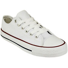 BRAND NEW LADIES WOMENS GIRLS CASUAL CANVAS LACE UP PLIMSOLLS FLAT TRAINERS SIZE