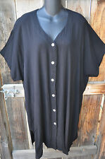 ART TO WEAR BUTTON  FRONT TOP IN BLACK BY MISSION CANYON FOR MIB,SIZE 2X,OS+!