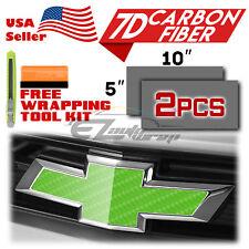 7d Carbon Fiber Gloss Vinyl Wrap For Chevy Bowtie Emblem Overlay Sticker Decal