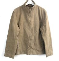 Mens River Island Brown Bomber Jacket Size Medium