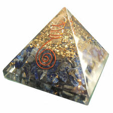 Lapis Lazuli Chips Orgonite Pyramid Orgone Energy Generator EMF Protector 70mm