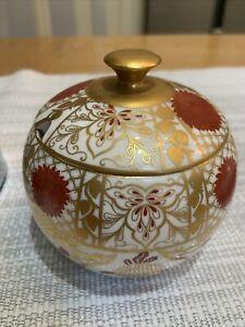 Abbeydale Chrysanthemum China White/gold Lidded Preserve / Jam Pot Duffield