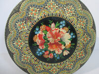 Tin Biscuit Cookie Vintage Embossed Beaded Floral Design Made in Holland