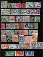 4 scans-Collection of mostly fine/good used Kenya Uganda Tanganyika stamps.