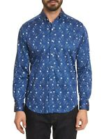 Robert Graham L Hawkesworth Long Sleeve Woven Shirt, Tailored Fit NWT $168 LARGE