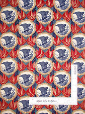 Patriotic Eagle American Flags USA Cotton Fabric Windham Let Freedom Ring - Yard
