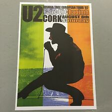 U2 - CONCERT POSTER - PAIRC UI CHAOIMH CORK IRELAND SATURDAY 8TH AUGUST (A3 SIZE