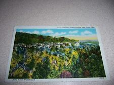1930s GORGE & CLIFF CONKLE'S HOLLOW near LOGAN OHIO LINEN POSTCARD