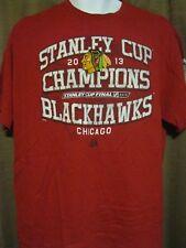 Vintage Majestic Chicago Blackhawks 2013 Stanley Cup Champs T-shirt sz XL