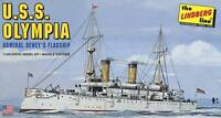 Lindberg USS Olympia 1/240 scale ship model kit new 402