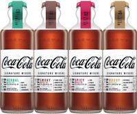 4 x COCA COLA Signature Mixers Full Set New 2019 Unopened Glass Bottles 200ml
