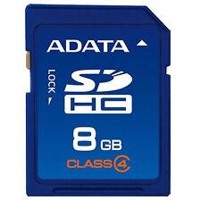 8GB NO Original ADATA  SD Card Class4 SDHC Memoria Camera GPS Tablet