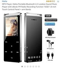 AGPTEK A05ST Bluetooth 4.0 Metal Touch MP3 Player 16GB with Speaker/Voice Record