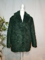 Mural Faux Fur Coat, Size XS