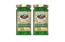 Maple Grove Farms of Vermont Real Mint Jelly (Pack of 2) 10 oz Jars