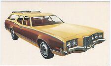 1972 Mercury MONTEGO VILLAGER Woodie STATION WAGON Dealer Promo Postcard VG+ ^