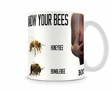 Know your Bees / boobies funny humour rude adult mug - FREE DELIVERY