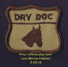 LMH PATCH Badge  DRY DOC QUARTER HORSE  Pedigree Equine Directory  Brown Logo