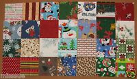 CLOSEOUT NEW 100 EA 4 INCH CHRISTMAS QUILT SQUARES COTTON
