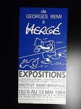 RARISSIME Affiche de Georges Remi à Hergé Tintin Steeman 1984 TBE Tim Kuifje