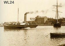 North Norfolk Postcard - Wells next the Sea - Steam Tug 'Marie' c1914 - WL24