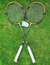 NEW 1Pair Top Quality high-strength Aluminium Alloy Badminton Racket Racquet Bag