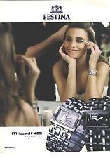 PUBLICITE  ADVERTISING 2008  FESTINA la montre or, argent ou noire????.....