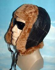 NEW! Sheepskin Bomber - Aviator Hat Unisex Real Leather