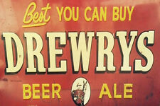 DREWRYS BEER ALE STORE BAR WEATHERED BUILDING DIORAMA SIGN DECAL 3X2 DD137