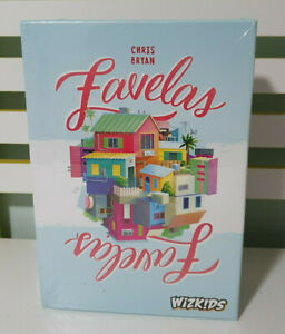 Favelas Board Game NEW IN PLASTIC 2018 WIZKIDS 14+ CHRIS BRYAN TILE LAYING GAME