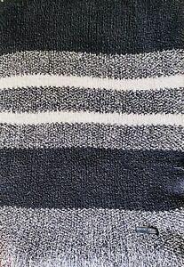 "BAREFOOT DREAMS CozyChic Luxe Stripe Throw Blanket Graphite 45"" x 60"" KARDASHIAN"