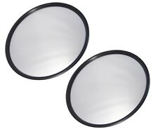 "QSC 8"" Round Stainless Steel Convex Mirror for Trucks & Semi Trucks 2 PCS"