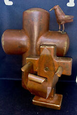 PAIR Jan Barboglio Covenant Wedding Cross And Candle Holder Iron Sculpture