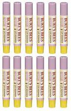 12 Pack Burt's Bees Lip Shimmer Lipstick, Guava 0.09 Oz Each