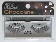 (LOT OF 10) ARDELL Professional Lashes Chocolate Black Brown #887