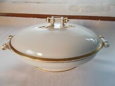 Haviland Limoges Oval White Gold Covered Dish Bowl Wedding Ring