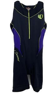 Pearl Izumi ELITE Cycling Bib Shorts Black Purple Zip Sz L Padded In R Cool