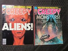 1978 CREEPY Warren Horror Magazine LOT of 2 Issues #96 VF- 97 FVF Frazetta Cover